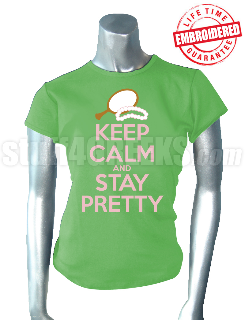 Alpha Kappa Alpha Keep Calm T-Shirt, Key Lime Green ... Sorority Shirt Quotes