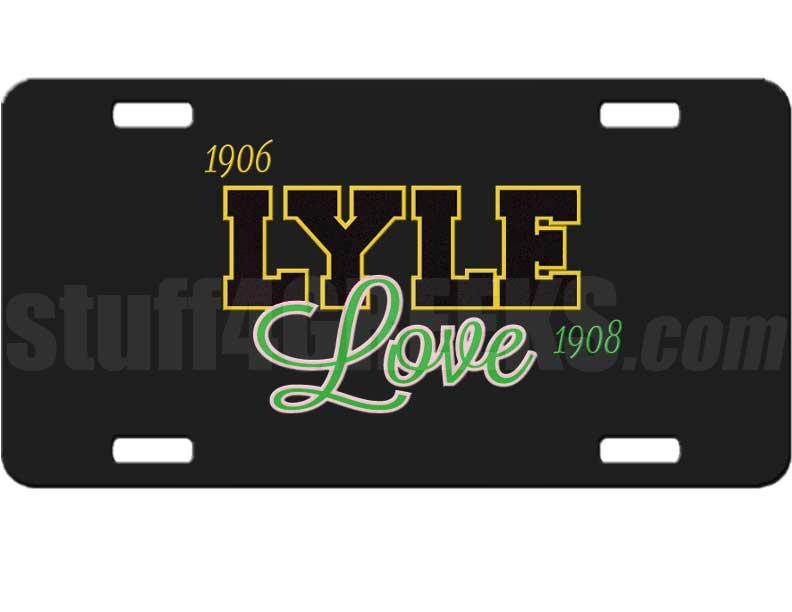 Alpha Phi Alpha/Alpha Kappa Alpha Lyle Love Dye-Sublimated License ...