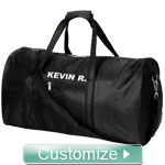 Personalized Rounded Duffel Bag with Embroidered Monogram