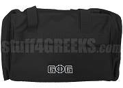 Groove Phi Groove Duffel Bag with Letters, Black