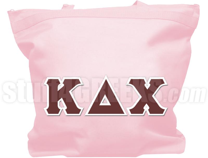 kappa delta chi greek letter tote bag pink zoom