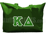 Kappa Delta Tote Bag with Greek Letters, Forest Green
