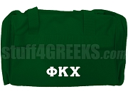 Phi Kappa Chi Greek Letter Duffel Bag, Forest Green