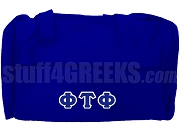 Phi Tau Phi Greek Letter Duffel Bag, Royal Blue