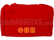 Phi Theta Pi Greek Letter Duffel Bag, Red