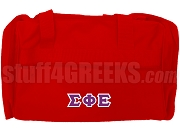 Sigma Phi Epsilon Greek Letter Duffel Bag, Red