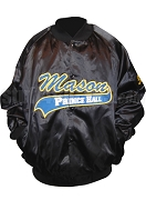 Prince Hall Mason Varsity Baseball Jacket, Black