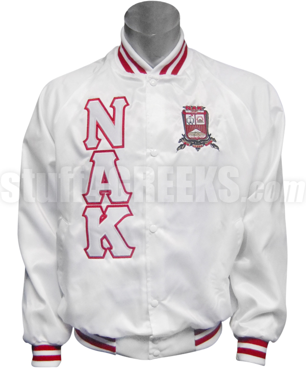 White Satin Baseball Jacket