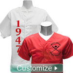 Personalized Embroidered Cloth Baseball Jersey
