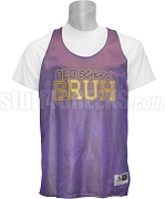 Omega Psi Phi Old School Bruh Mesh Basketball Jersey, Purple