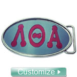 Custom Acrylic Round Sorority Belt Buckle (Buckle Only)