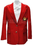 Chi Omega Blazer Jacket with Crest, Red