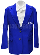 Phi Tau Phi Ladies Blazer Jacket with Greek Letters, Royal Blue