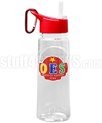 Order of the Eastern Star Letter Water Bottle with Star and Organization Name