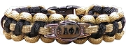 Alpha Phi Alpha Braided Sports Bracelet, Old Gold/Black