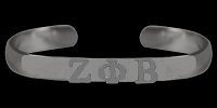 Zeta Phi Beta Silver Bangle Bracelet - DISCONTINUED - NO LONGER IN STOCK