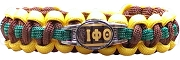 Iota Phi Theta Braided Sports Bracelet, Brown/Gold/Green