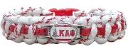 Kappa Alpha Psi Braided Sports Bracelet, White/Red