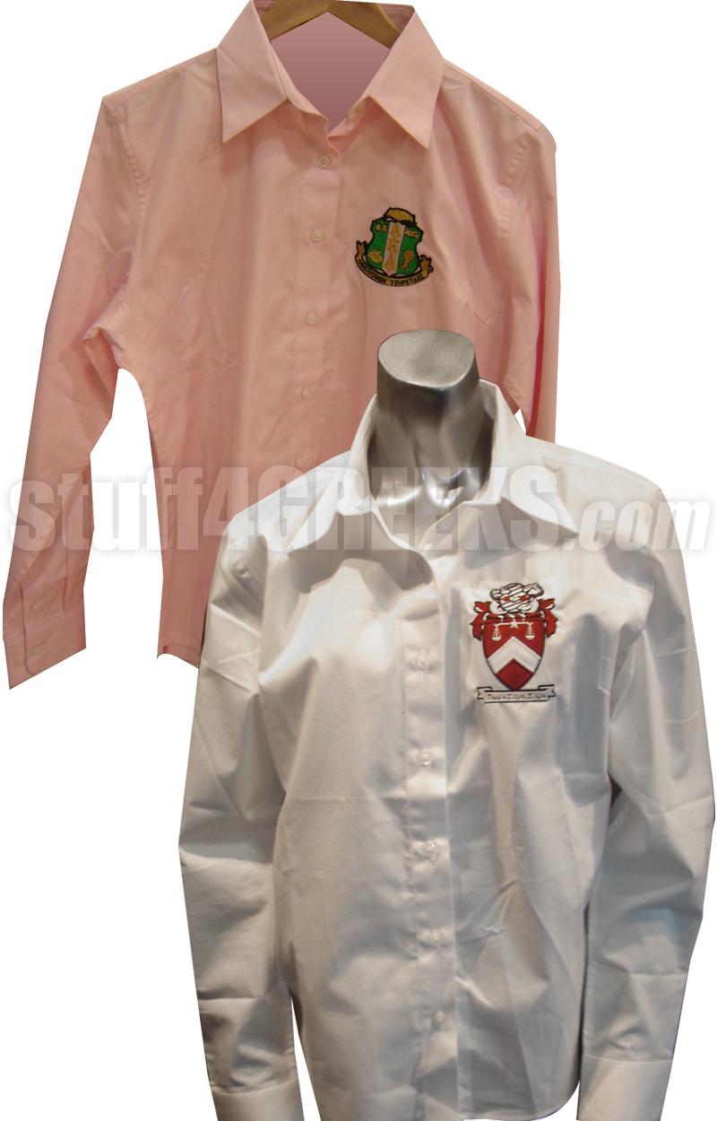 Custom Ladies Sorority Button-Down Shirt