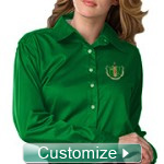 Custom Ladies Sorority Button-Down Shirt