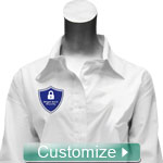 Personalized Embroidered Ladies Button-Down Shirt