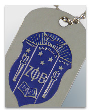 Zeta Phi Beta Dog Tags