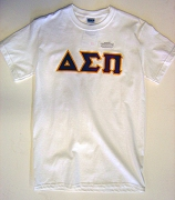 Delta Sigma Pi Letters Screen Printed T-Shirt, White