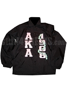 Black Line Jacket with Alpha Kappa Alpha Letters and 1908 with Pearls
