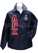 Alpha Rho Chi Greek Letter Line Jacket with Crest, Navy Blue