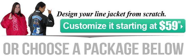 Design your Greek line jacket from scratch.