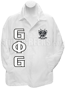 Groove Phi Groove Line Jacket with Letters and Crest, White