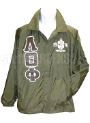 Lambda Theta Phi Greek Letter Line Jacket with 1975 Crest, Brown