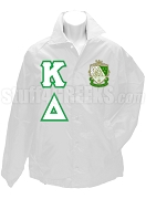 Kappa Delta Line Jacket with Letters and Crest, White