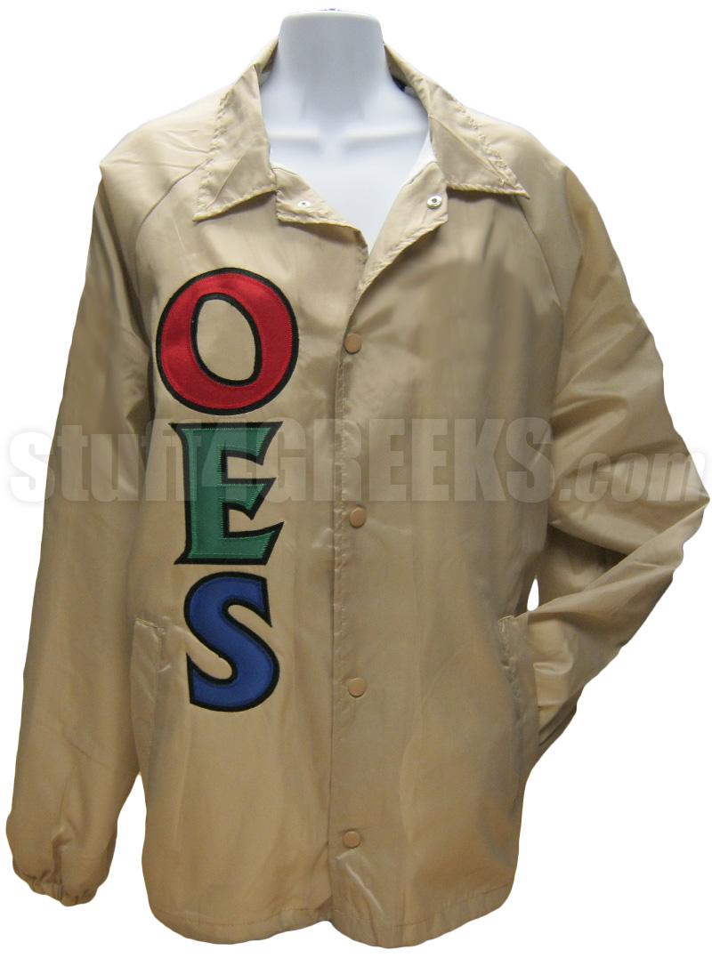 order of the eastern star basic letter line jacket  tan