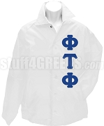 Phi Tau Phi Greek Letter Line Jacket, White