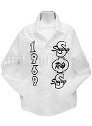 Swing Phi Swing Line Jacket with  Founding Year and Letters Thru, White