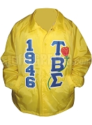 Tau Beta Sigma 1946 Greek Letter Line Jacket with Rose Thru, Gold