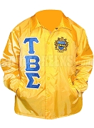 Tau Beta Sigma Greek Letter Line Jacket with Crest, Gold