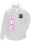 Theta Phi Sigma Line Jacket with Letters and Crest, White