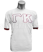 Kappa Alpha Psi Crossing Jersey with Gamma Kappa Chapter Greek Letters, White /Crimson