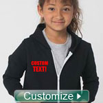FratBrat® Kids' Custom Zip-Up Sweatshirt