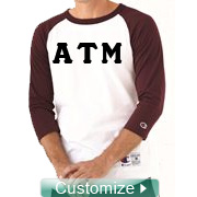 Custom Embroidered Two-Toned Baseball Shirt (Raglan Tee) - EMBROIDERED with Lifetime Guarantee