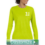 Custom Fitted Athletic Performance Screen Printed T-Shirt (Ladies Long Sleeve)