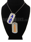 Alpha Delta Chi Dog Tags - Double with Founding Year