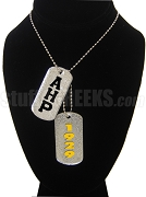 Alpha Eta Rho Dog Tags - Double with Founding Year