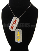 Alpha Gamma Kappa Dog Tags - Double with Founding Year