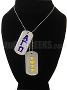 Alpha Gamma Omega Dog Tags - Double with Founding Year