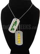 Alpha Gamma Rho Dog Tags - Double with Founding Year