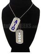 Alpha Iota Omicron Dog Tags - Double with Founding Year