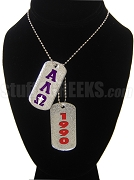 Alpha Lambda Omega Dog Tags - Double with Founding Year